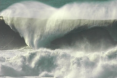 Wave.  Photograph of a wave with rather impressive energy.  This icon represents the wave energy captured by Dam-Atoll.  Title:  40' Closeout.  ©eggz; eggz references a user id on Flickr.  Image used with his kind permission.  Flickr address:  http://www.flickr.com/photos/eggz/82357672/;  Flickr location: http://farm1.static.flickr.com/40/82357672_b57ca48c12_m.jpg