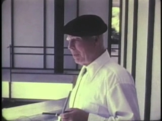 Still from the video showing Leslie S. Wirt, the principle inventor of Dam-Atoll